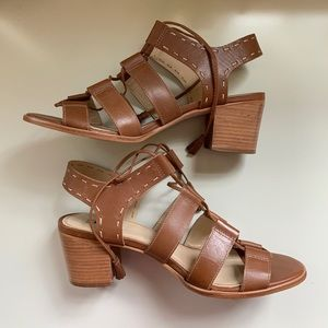 Camel colored Heeled sandals